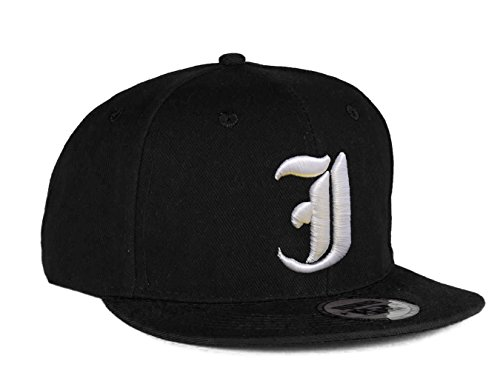 4sold Snapback Hat with Raised 3D Embroidery Letter Baseball Cap Hip-Hop Cap Hat Headwear (One Size, J)
