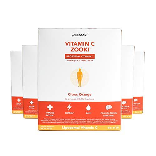 YourZooki Liposomal Vitamin C 1000mg - 6 Month Supply (180 Sachets) - Vitamin C Zooki 6 Boxes