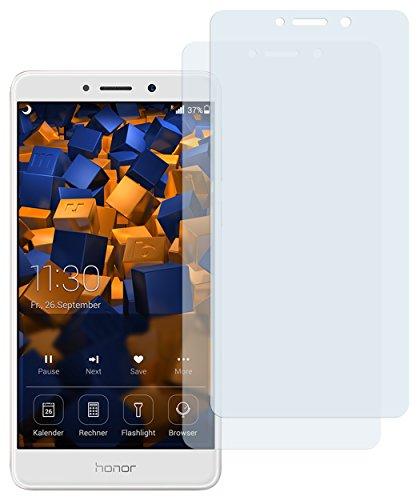 mumbi Schutzfolie kompatibel mit Huawei Honor 6X Folie klar, Displayschutzfolie (2X)