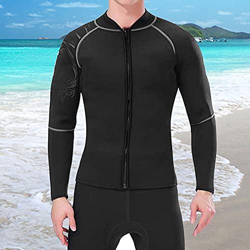 AMONIDA Traje de Neopreno para Hombres de 3 mm de Alta Resistencia a la tracción, Traje de natación fácil de Usar y Quitar, Resistente al ozono para Mantener la Ropa Abrigada para bucear(XXL)