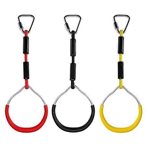 Cuasting 3 anillos de barra oscilante, anillos de gimnasia oscilante, mono, obstáculo, escalada, juegos de patio trasero al aire libre