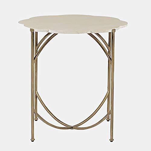 limestone top side table - 1