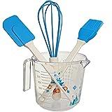 alles-meine.de GmbH 4 TLG. großes Backset / Kinderküche - Disney die Eiskönigin - Frozen - Schneebesen - Backpinsel - Teigschaber - Messbecher - BPA frei - Silikon - Plätzchen - ..