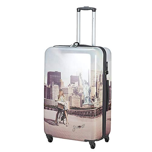 TROLLEY YNOT YES LUGGAGE LARGE SIZE SPINNER J-1003 NEW YORK