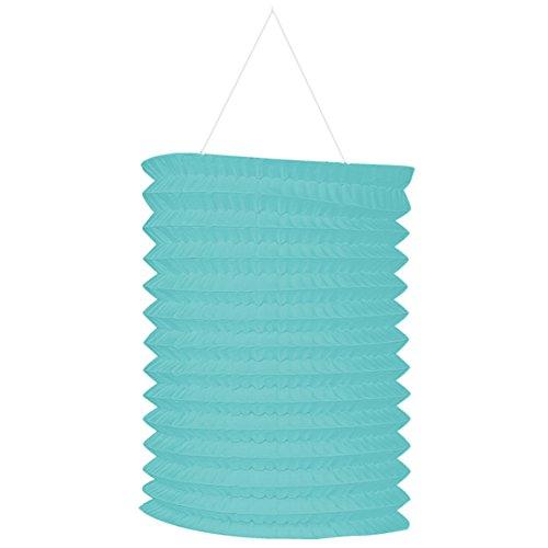 amscan 22055.121 Party Supplies Robin's Egg Blue Paper Lantern Garland