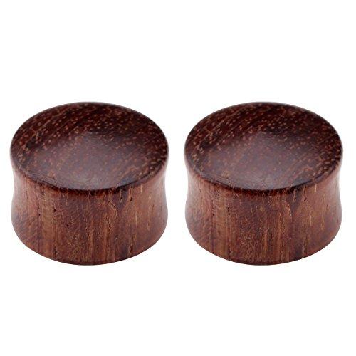 PiercingJ - 2PCS Boucles d'oreilles Sono Wood Bois Bambou Taper Tambour Ecarteur Expandeur Tunnel Flesh Plug Unisexe 16mm