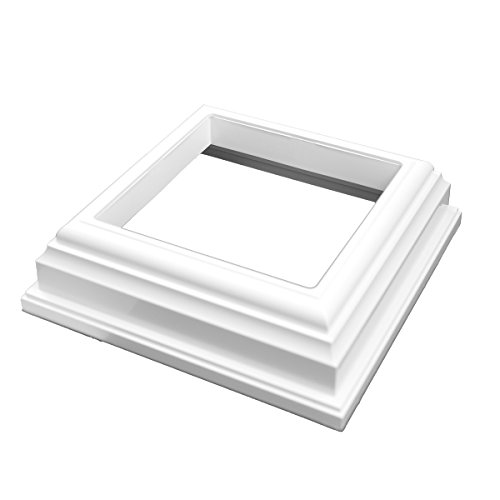 Weatherables | AWPT-Skirt-4 | New England Vinyl Post Cap | for A True 4 Inch X 4 Inch Post | White | Superior Durability