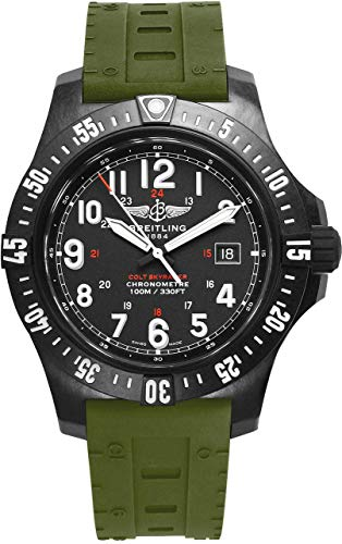 Breitling Watches Breitling Colt SkyRacer Men's Watch with Green Skyracer Rubber Strap X74320E4/BF87-298S