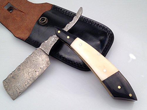 Scheermes Razor van damaststaal Damascus Blade
