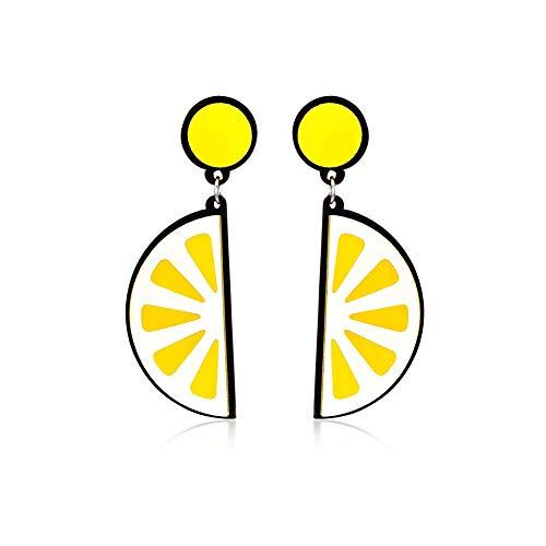 N-K PULABO - Pendientes colgantes con gota de agua, color naranja y limón, acrílico para mujer y niña, diseño de gota