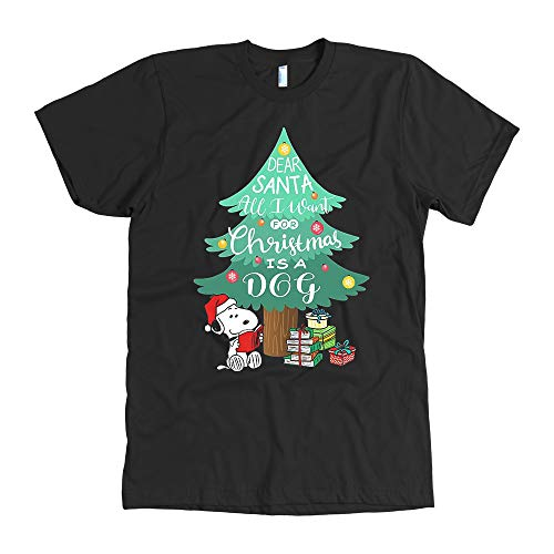 Christmas Shirt, Snoopy Christmas Shirt, The Peanuts Movie Christmas Shirt, Charlie Brown Shirt, I Want a Dog for Christmas Shirt