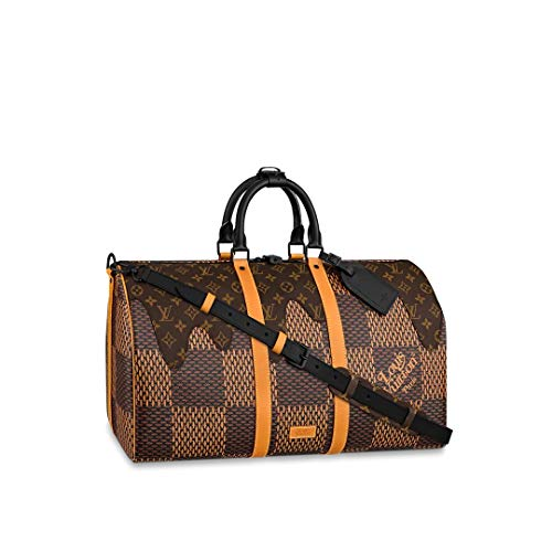 Louis Vuitton x Nigo LV² Collection Keepall 50 Bandouliere Travel Bag Luggage N40360