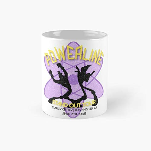Vintage Powerline Concert Logo – A Goofy Movie Classic Mug | Mejor regalo divertido tazas de café 12 oz
