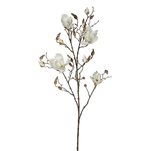Mica decorations Magnolienzweig weiß, Kunstblume, Höhe 109 cm