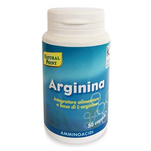 Natural Point Integratore Alimentare Arginina 500 Mg, 50 Capsule