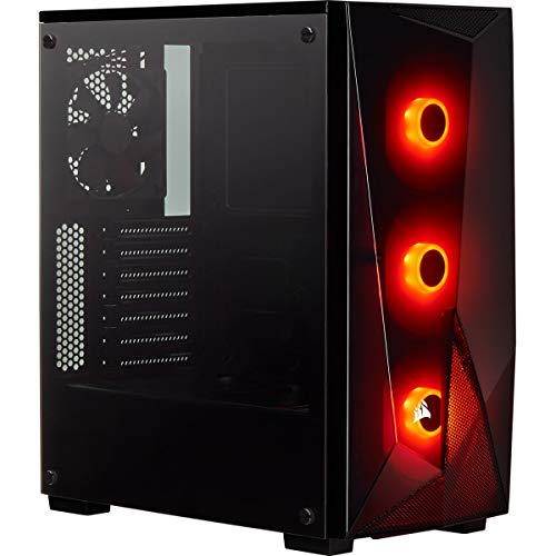 Corsair SPEC-DELTA Carbide Series, RGB Tempered Glass Mid-Tower ATX Gaming...