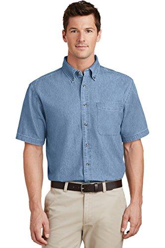 Port & Company® - Short Sleeve Value Denim Shirt. SP11 Faded Blue* 6XL