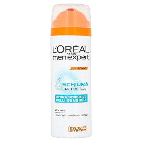 L'ORÉAL Paris Men Expert Hydra Sensitive - Schiuma da Barba pelli sensibili - 200 ml