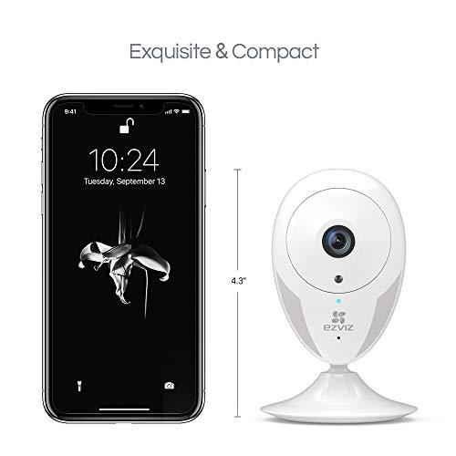 EZVIZ CTQ2C Überwachungskamera innen WLAN IP Kamera 1080p mit Magnetfuß, Server in Europa, Nachtsicht, Bewegungsmelder, Gegensprechen, Handy App, Haus/Baby/Pet Indoor Cam Full HD Videoüberwachung