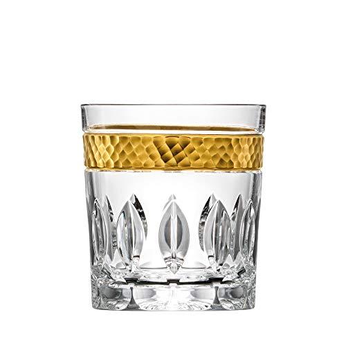 ARNSTADT KRISTALL Whiskyglas Bloom Gold (9 cm) Kristallglas mundgeblasen · handgeschliffen · Handmade in Germany · inkl. 24 Karat Goldrand