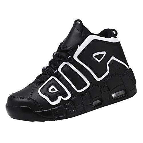 TWISFER Herren Basketball Schuhe Outdoor Anti-Rutsch Sneaker High-Top Sportschuhe Laufeschuhe Atmungsaktiv Ausbildung Turnschuhe Verschleißfeste Dämpfung Basketballstiefel
