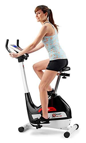 Schmidt Sportsworld SC0235 - Bicicleta de ejercicio, Ergo HT10, Negro / Blanco / Rojo