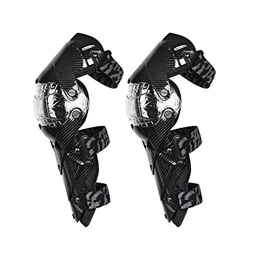 VOMI Motorrad Knie Protektor Motocross Knieschoner Flexibel Knieschützer MTB Knieschutz Knee Guard für Enduro Race Fahrrad Skateboard Radrennen Ski Roll, 8 Farben,Schwarz