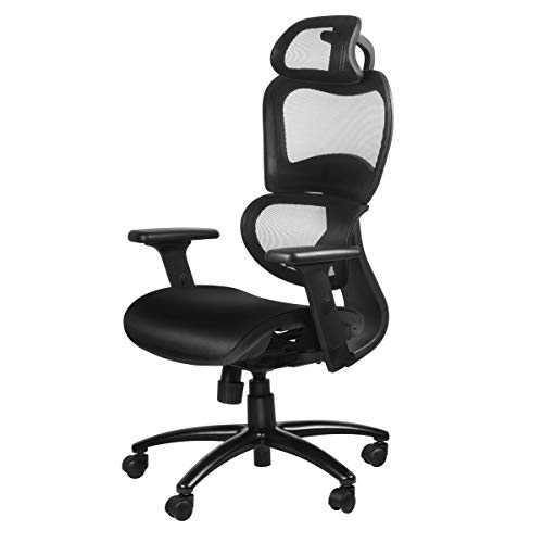 Duramont Ergonomic Office Chair with Lumbar Support - High Back Executive Chair with Breathable Mesh - Desk and Task Chair with Adjustable Head & 3D Arm Rests, Seat Height - Reclines