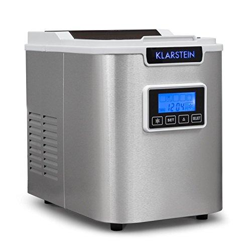 MUY RÁPIDA: La máquina de hacer hielo Klarstein Icemeister tiene un tanque en el que entran 1,1 L de agua y, nada más llenarlo, comienza a funcionar. En 15 minutos, tendrás tus primeros 9 cubitos. Después, la máquina producirá 9 cubitos cada 10 minut...