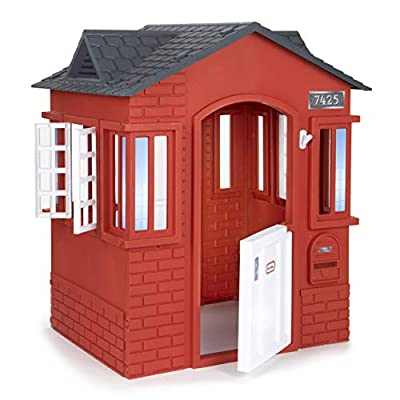 Little Tikes Cape Cottage House, Red with Working Doors, Working Window Shutters, Flag Holder | Easy Installation Process, Simple Snap and Click Assembly | for Kids 2-6 Years Old by Little Tikes