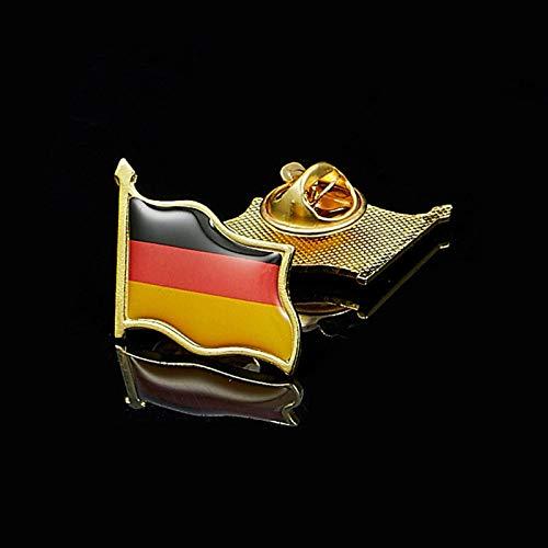 FISH4 Bandera Alemana Que agita el Sombrero de la Solapa del Metal Alfiler de Corbata Deutsche Broches Insignia de Metal