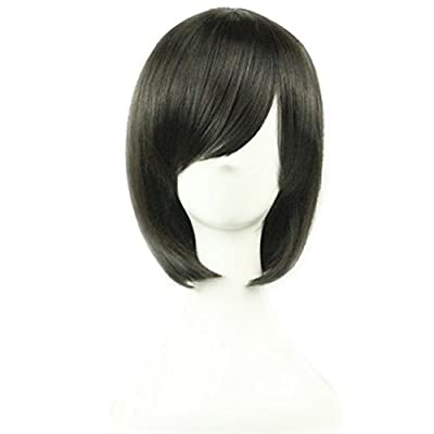 """AneShe 12"""" Short Straight Hair Wig Anime Cosplay Costume Party Wigs"""