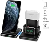 Seneo 3 in 1 Wireless Charger, Apple Watch and AirPods 2 Charging Station,Magnetic