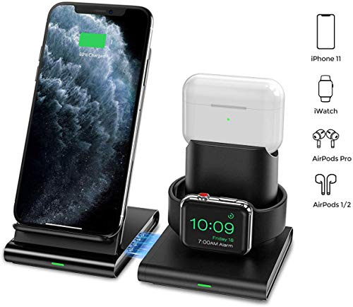 Seneo 3 in 1 Wireless Charger, Apple Watch and AirPods 2 Charging...