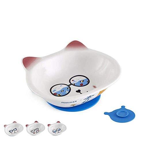 Pet Waterer Pet Waterer Ceramic voerbak for Voedsel en Water Pet Voeders Easy Clean met gratis Placemat Gemakkelijk te water en schone toevoegen dmqpp (Color : White, Size : L)