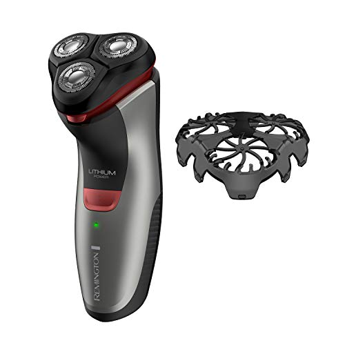 Remington R4000 Series Electric Rotary Shaver, Fully Washable, Black/Red, PR1340,1 Count