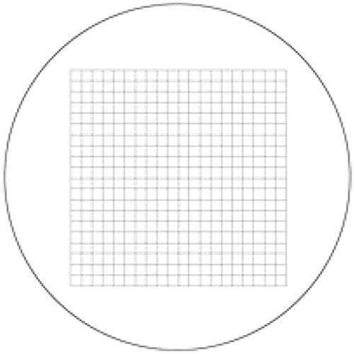 Vee Gee 1400-RGM100510C Reticle Grid, 10 x 10 mm, 400 Squares (0.5 mm²), 10x Eyepiece, 18 mm Eyepiece Field of View, 1400'S and 1100Amh'S Microscopes