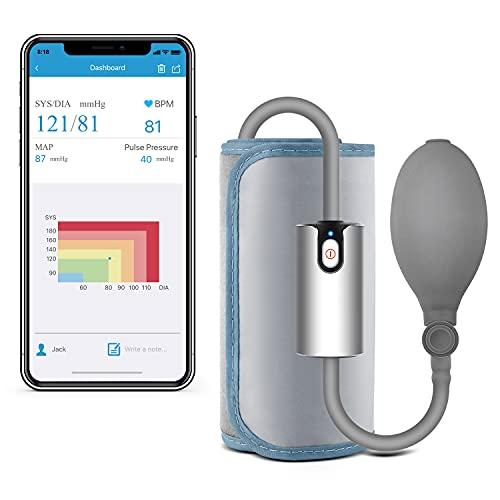 ViATOM AirBP Bluetooth Tensiómetro de Brazo, Detección del Pulso Arrítmico, Monitor de Tensión Arterial con APP y Manguito Inteligente 22-42cm