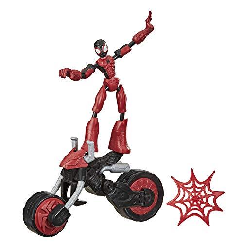 Hasbro F0236 Marvel Bend and Flex, Flex Rider Spider-Man Action-Figur, 15 cm große biegbare Figur und 2-in-1 Motorrad, für Kinder ab 4 Jahren