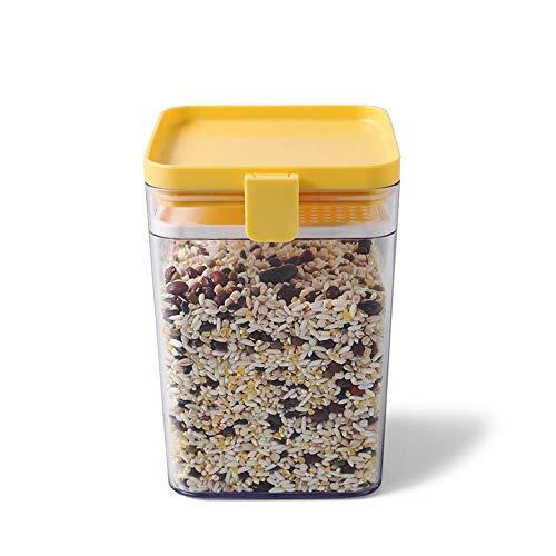 FINSHN Almacenamiento Cocina Contenedor, Grano Y Almacenamiento Envases En Seco, Sin BPA, Granos Transparente Productos De Almacenamiento Productos Almacenamiento, Tanque Conservación Alimentos