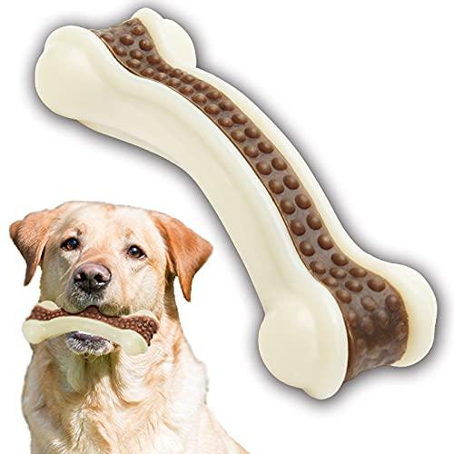 Juguete para masticar para perros, con sabor a carne de vacuno, resistente juguete para morder para el cuidado dental
