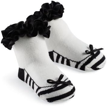 Mud Pie Princess Natalie Zebra Sock