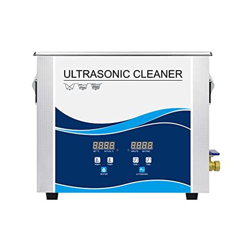 Máquina De Limpieza Ultrasónica De 10 L, Calefacción De 300 W + Limpiador con Temporizador, Máquina De Limpieza Oscilante De Reloj De Metal para Instrumentos De Laboratorio Industrial De Acero Inoxi