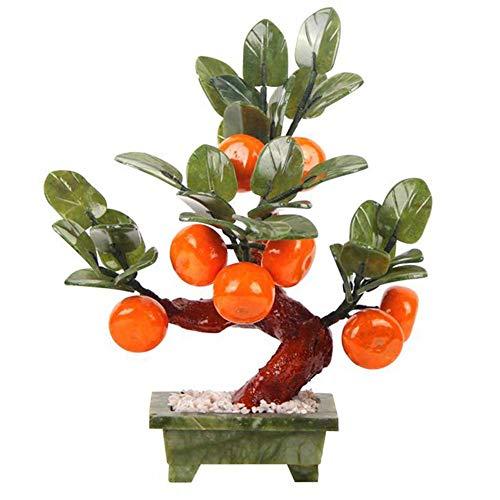 MEELLION Feng Shui Tree für Zuhause, grüne Jade Geldbaum Skulptur, Home Büro Schreibtisch Baum Dekor Glück Figur Statue, Ornamente, Grün Love of a Lifetime
