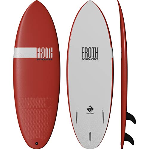 "Boardworks Froth! | Soft Top Surfboard | 3 Fins | Wake Surfboard | 5' 6"" | Papaya"