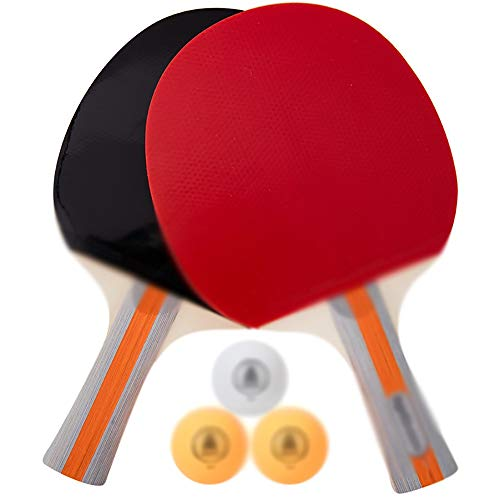 Lowest Prices! SDAKVDNS Table Tennis Sets, Two Rackets and Three Balls, Portable Table Tennis Racket...