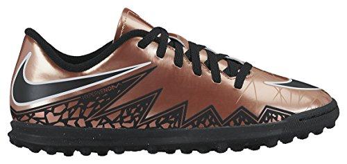 Nike JR Hypervenom Phade II TF, Scarpe da Calcio Bambino, Marrone/Nero/Bianco (Mtlc Rd Brnz/Blk-Grn Glw-White-), 36 EU