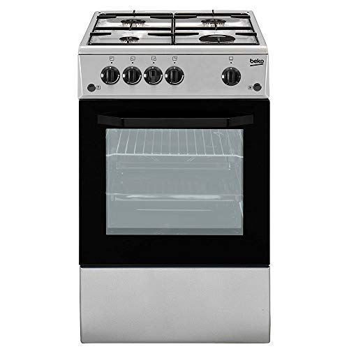 BEKO Cucina Elettrica CSS42014FS 4 Fuochi a Gas Forno Elettrico Classe B Dimensioni 50 x 50 cm Colore Inox