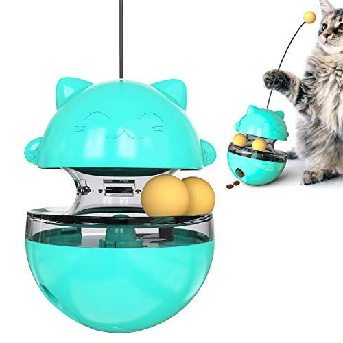 Нсрet Hcpet Cat Treat Futterball, Cat Dispenser Futterspielzeug, Cat Slow Feeder, Treat Dispensing Hundespielzeugball, IQ Food Toys Ball