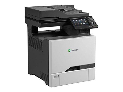 Lexmark CX727DE 4-in-1 Farblaser-Multifunktionsgerät (Drucker, Kopierer, Scanner, Fax, LAN, bis zu 47 S./Min., autom. beidseitiger Druck, 17,8 cm-Touchscreen) schwarz/grau